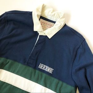 Abdecrombie Rugby Cloth Vintage Sweater - large
